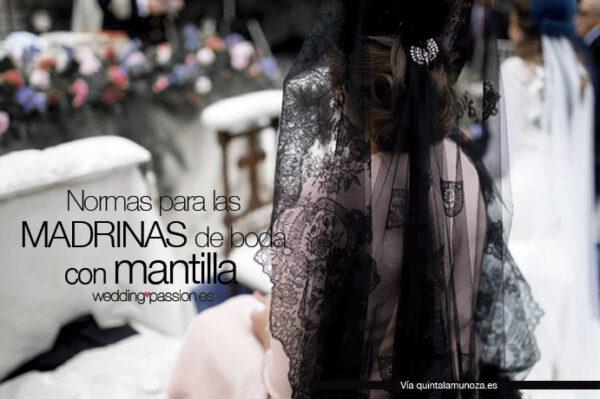 Normas-para-las-madrinas-de-boda-con-mantilla-www.weddingpassion.es-foto-vía-la-muñoza 691 × 460