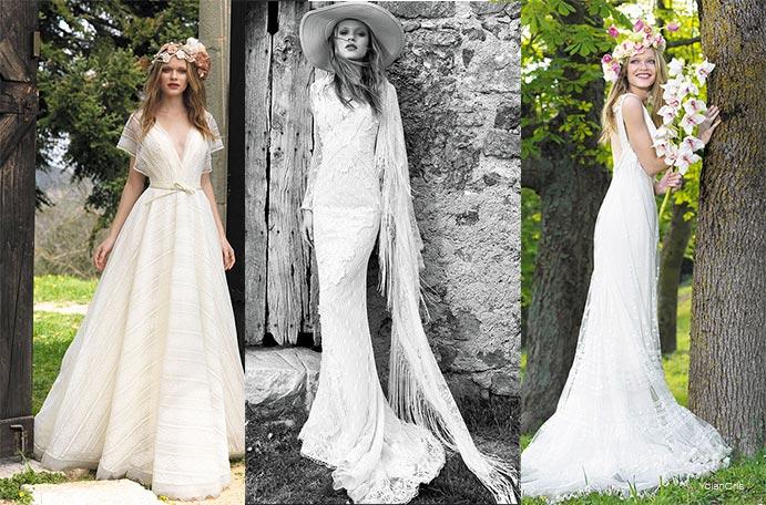 Matrimonio Bohemien Moda : Vestidos de novia boho chic wedding passion