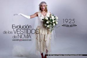 Evolución de los vestidos de novia