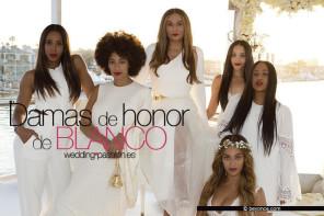 Damas de honor de blanco