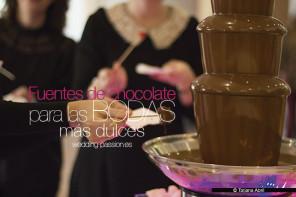 Fuentes de chocolate para las bodas más dulces