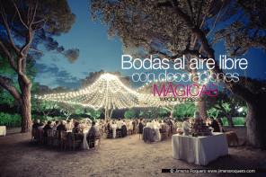 Bodas al aire libre con decoraciones mágicas