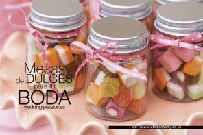 Mesas de dulces para bodas dulces
