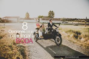 8 Opciones originales para llegar a tu boda