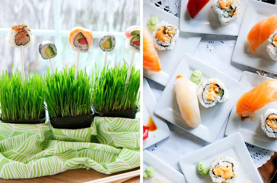 SUSHI PARA UNA BODA plantas y sushis 961 x 634