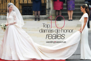 Protocolo bodas, TOP 10 damas de honor reales