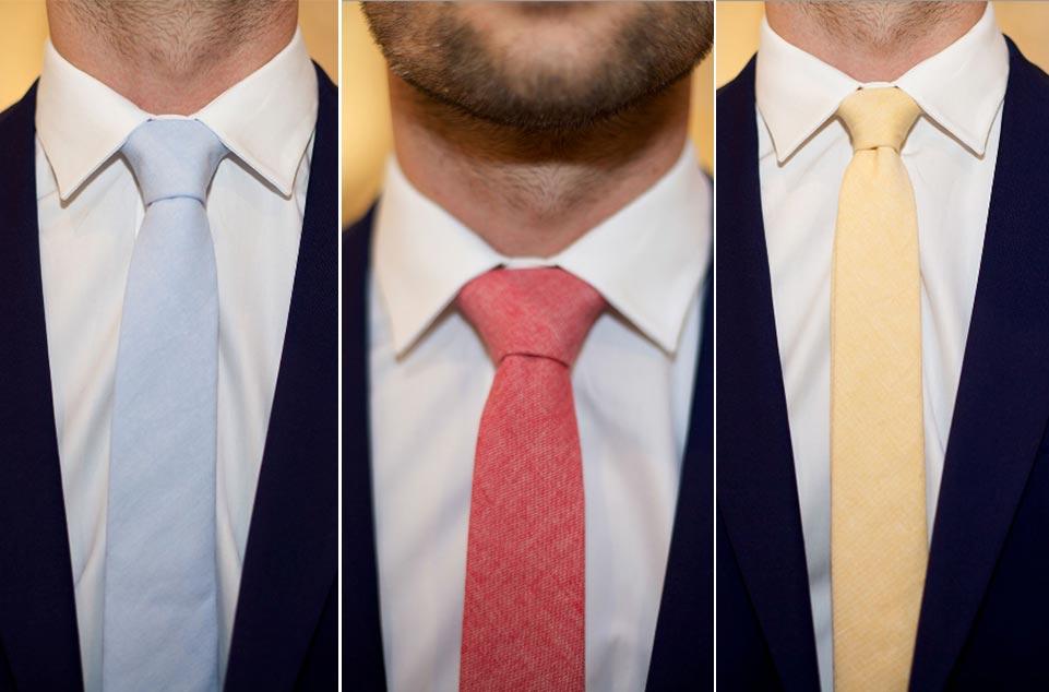 guia-practica-para-elegir-corbata-www.weddingpassion.es-corbata azul amarilla y roja