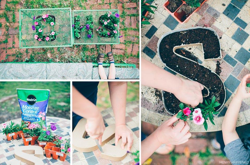 DIY Letras con flores para decorar weddingpassion.es blog de boda foto Henry Happened 961x634