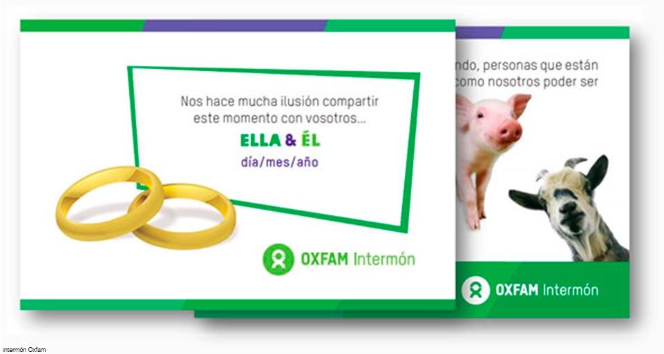Regalos solidarios para bodas Intermón-Oxfam 961 x 513