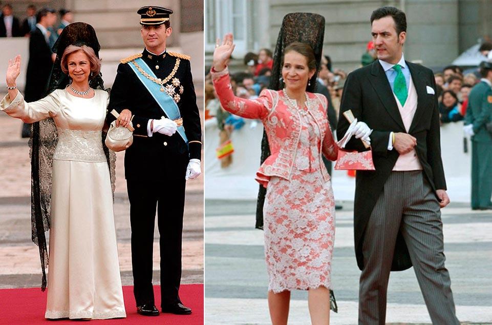 Normas para las madrinas de boda con mantilla Doña Sofía y Doña Elena 961 x 634
