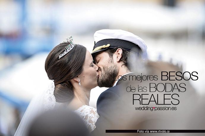 Los mejores besos de las bodas reales