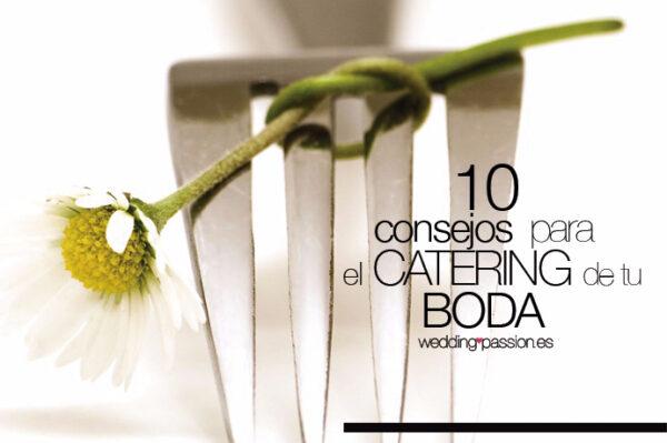 10 consejos para el catering de tu boda
