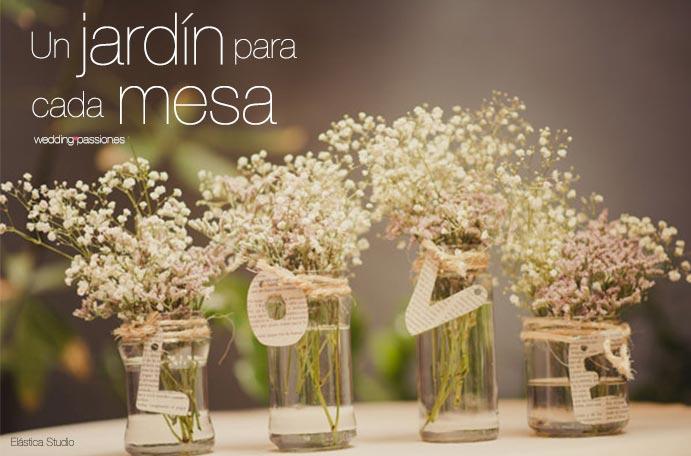 Centros de mesa para boda un jard n para cada mesa - Decorar mesas de jardin ...