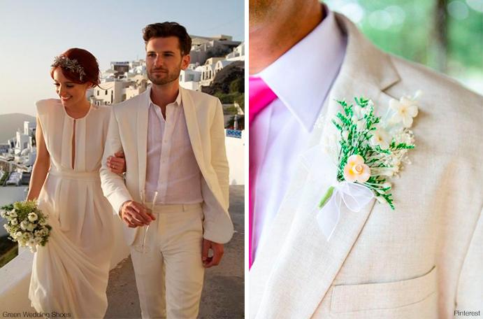 Moda masculina para bodas de verano wedding passion for Trajes de novio blanco para boda