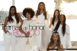 Damas de honor, bellas y de blanco