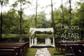Ideas decoración bodas, decora el altar de tu boda