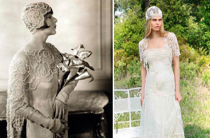 vestidos de novia vintage, de ayer y de hoy todo vuelve - wedding