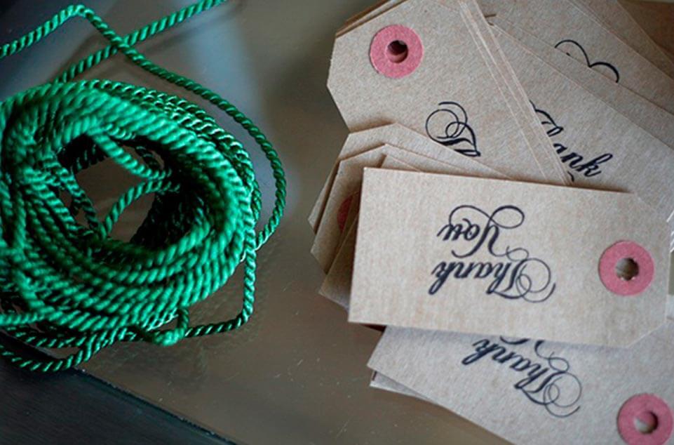 Tarjetas de agradecimiento boda etiquetas thank you 961 x 634