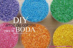 Arroz de colores: Cómo teñir arroz para tu boda.