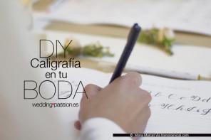 DIY: Caligrafía para invitaciones de boda