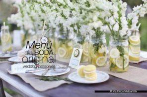 Menú de boda original, sano y rico