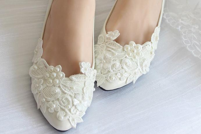 zapatos planos novia para el día de tu boda - wedding passion