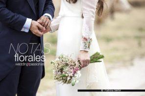 Flores para boda, Notas florales