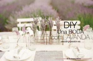 Lavanda para bodas, DIY con lavanda