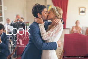 Novia boda civil, look de novia civil