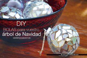 DIY navidad: bolas para árbol de Navidad