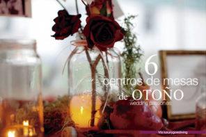 Centros de mesa para boda de otoño