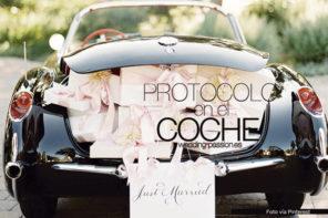 Coche de boda, el protocolo en el coche
