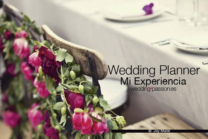 Wedding planner, mi experiencia