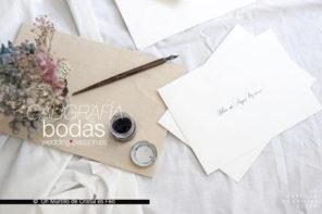 Caligrafía bodas, pon arte en tu boda