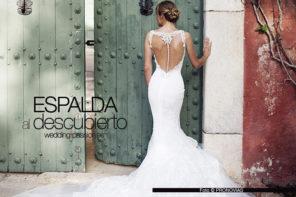 Vestidos novia espalda descubierta y elegante