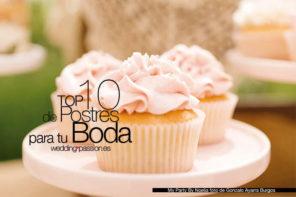 Mesas dulces para bodas, Top 10 de Postres