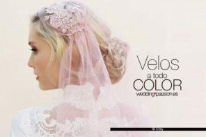 Velos de color para novia, el complemento perfecto