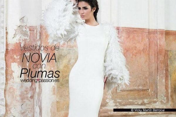 vestidos de novia con plumas-691x460