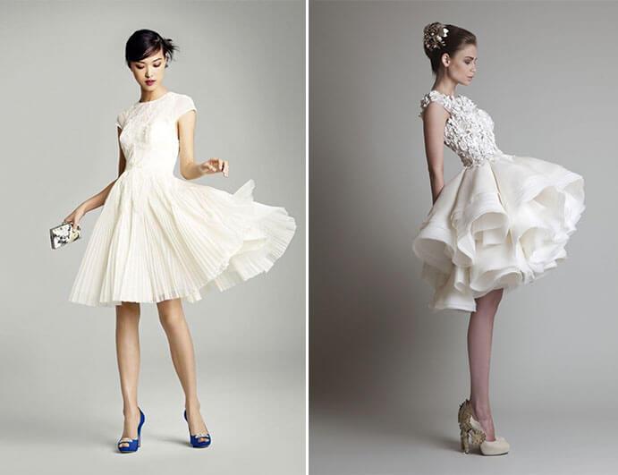 Vestidos novia cortos originales