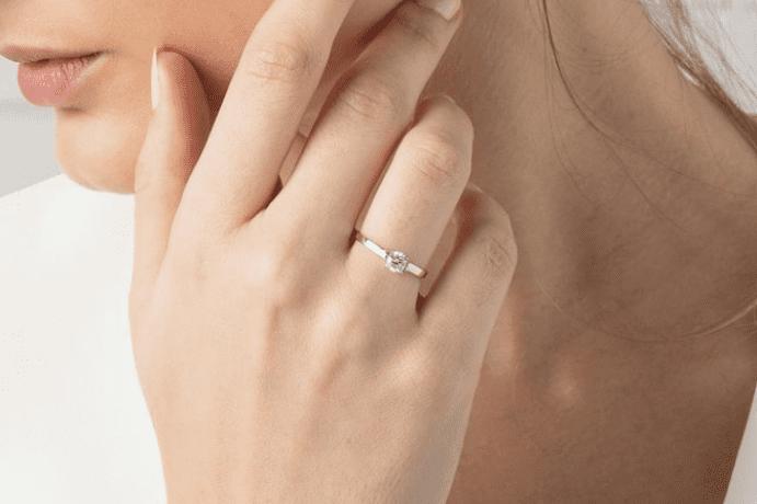 alianza oro y diamante